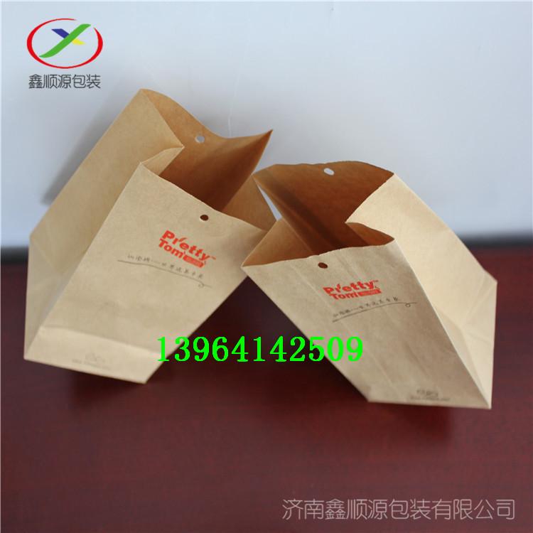 牛皮纸方底纸袋淋膜纸袋茶叶袋各种零食打包袋