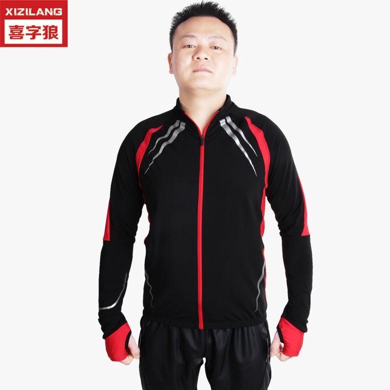 冬季骑行服抓绒挡风防寒自行车服套装加厚保暖骑行服长袖厂家直销