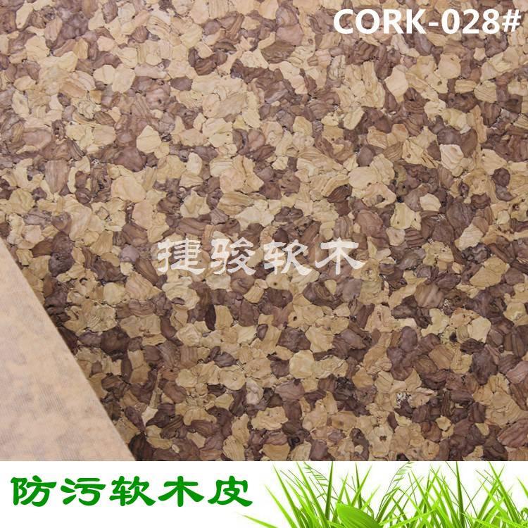 专业生产箱包皮具专用天然原木色软木革防污款式齐全CORK-028