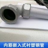 内筋嵌入式衬塑钢管 饮水衬塑管 钢塑复合管 塑钢管 欢迎来电咨询
