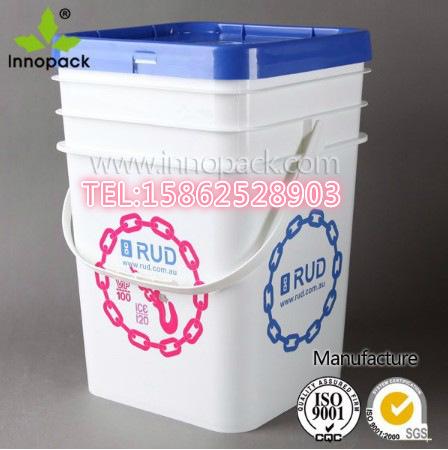 供应大口20L塑料方桶 20公升KG方口桶 20升大口方桶