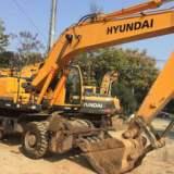 供应现代二手挖掘机 现代210W-9轮式挖掘机出售