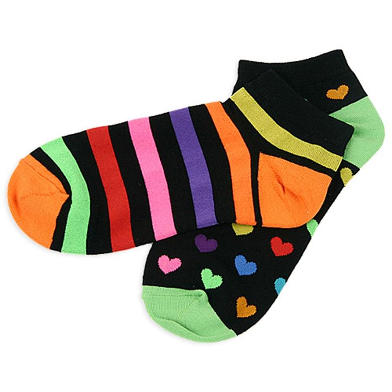 七彩短袜纺织低帮短袜防臭薄款船袜纯棉浅口夏季运动棉袜七彩棉袜