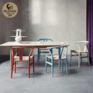 北欧风日式美式环保一桌四椅图片