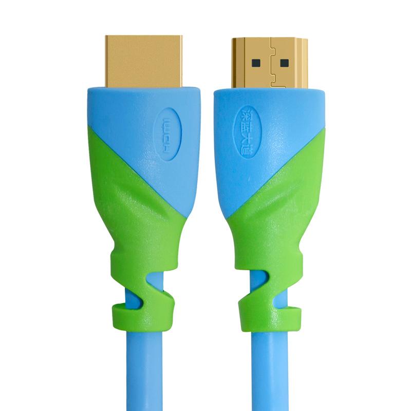 深蓝大道 HDMI高清线H103 蓝怪兽系列高清线电脑连接线