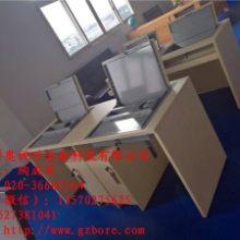 电教室电脑桌 博奥 博奥电教室翻转显示器电脑桌定做