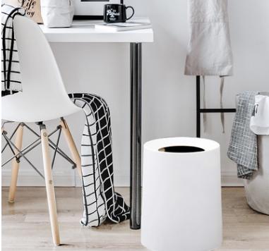 家用垃圾桶欧式创意卫生间办公室酒店室内小大号圆形无盖塑料纸篓
