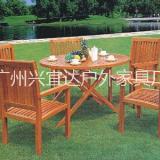 户外体桌椅 实木桌椅 防腐木桌椅 一体摆摊露營户外桌椅组合