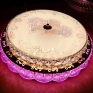 水晶灯具主卧室灯温馨浪漫圆形简约图片