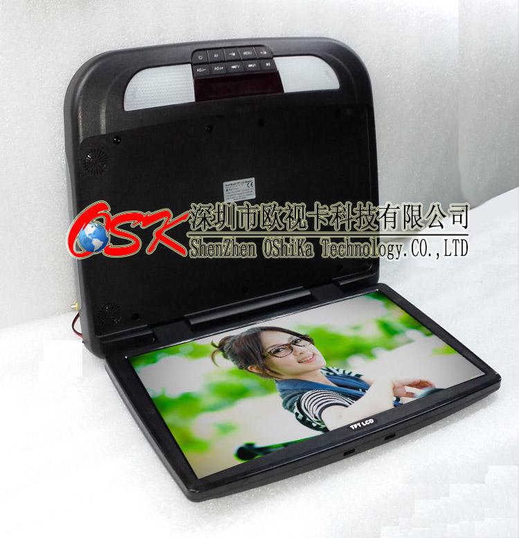 欧视卡 18.5寸吸顶式插卡车载DVD 画面倒置可选