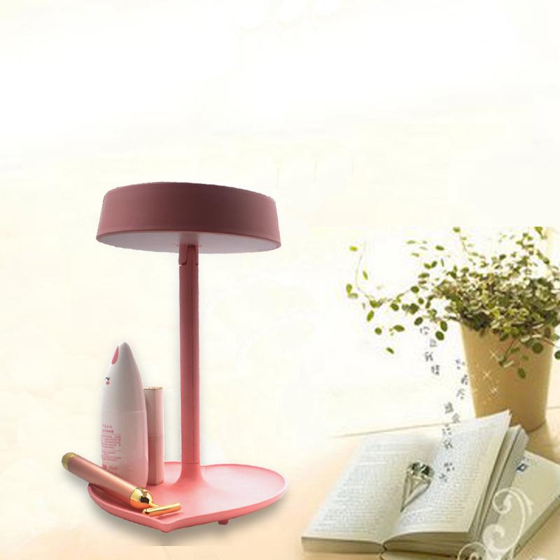 LED化妆镜 可充电台式折叠带灯镜子 智能感应梳妆镜台灯一件代发