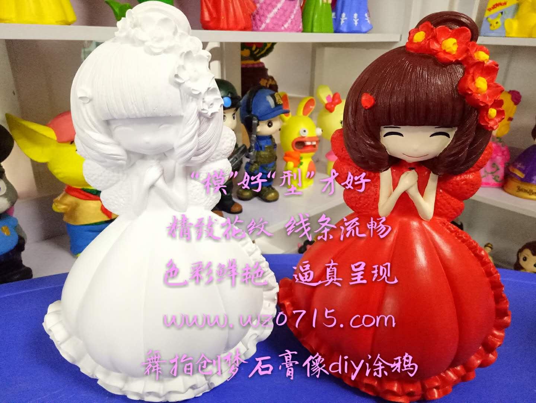 长沙市石膏娃娃像彩绘白胚批发销售