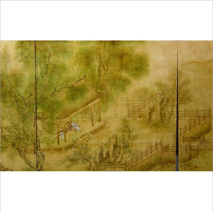 北京定制手绘漆画屏风 北京中式实木折屏 北京客厅折叠屏风 北京家居酒店屏风定制