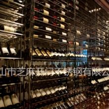 芝麻开门不锈钢酒柜定制 酒吧不锈钢酒架 恒温不锈钢酒柜 酒店不锈钢玻璃酒柜