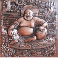 锻铜浮雕-佛龛释迦摩尼佛