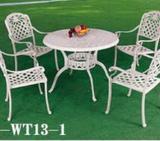斜格圆台桌椅  户外家具生产厂家  户外铸铝家具定做