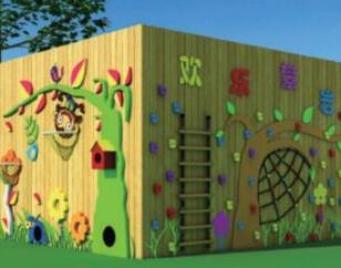 幼儿园大型木质炭烧积木|户外大型玩具|木制攀爬组合|幼儿园大型