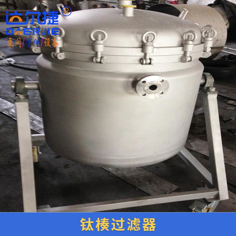 达尔捷机械供应钛楱过滤器 翻转钛棒过滤器 不锈钢金属蒸汽过滤器