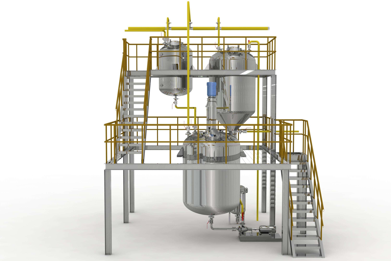 卫生级不锈钢反应釜 不锈钢反应釜 真空乳化反应釜