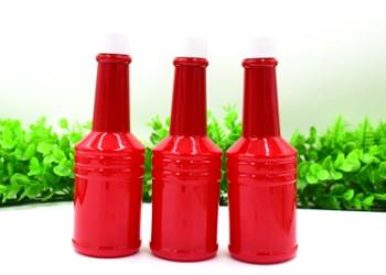 120ml红色瓶PET长颈瓶图片