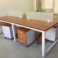 职员办公桌简约现代员工桌24人位办公桌椅组合员工钢架桌