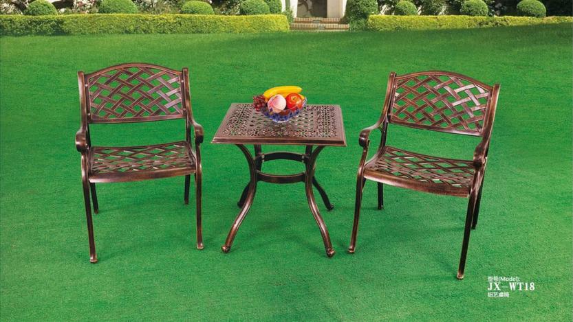 拆装铸铝桌椅  佛山铸铝桌椅生产厂家  户外休闲桌椅定做  户外家具生产厂家