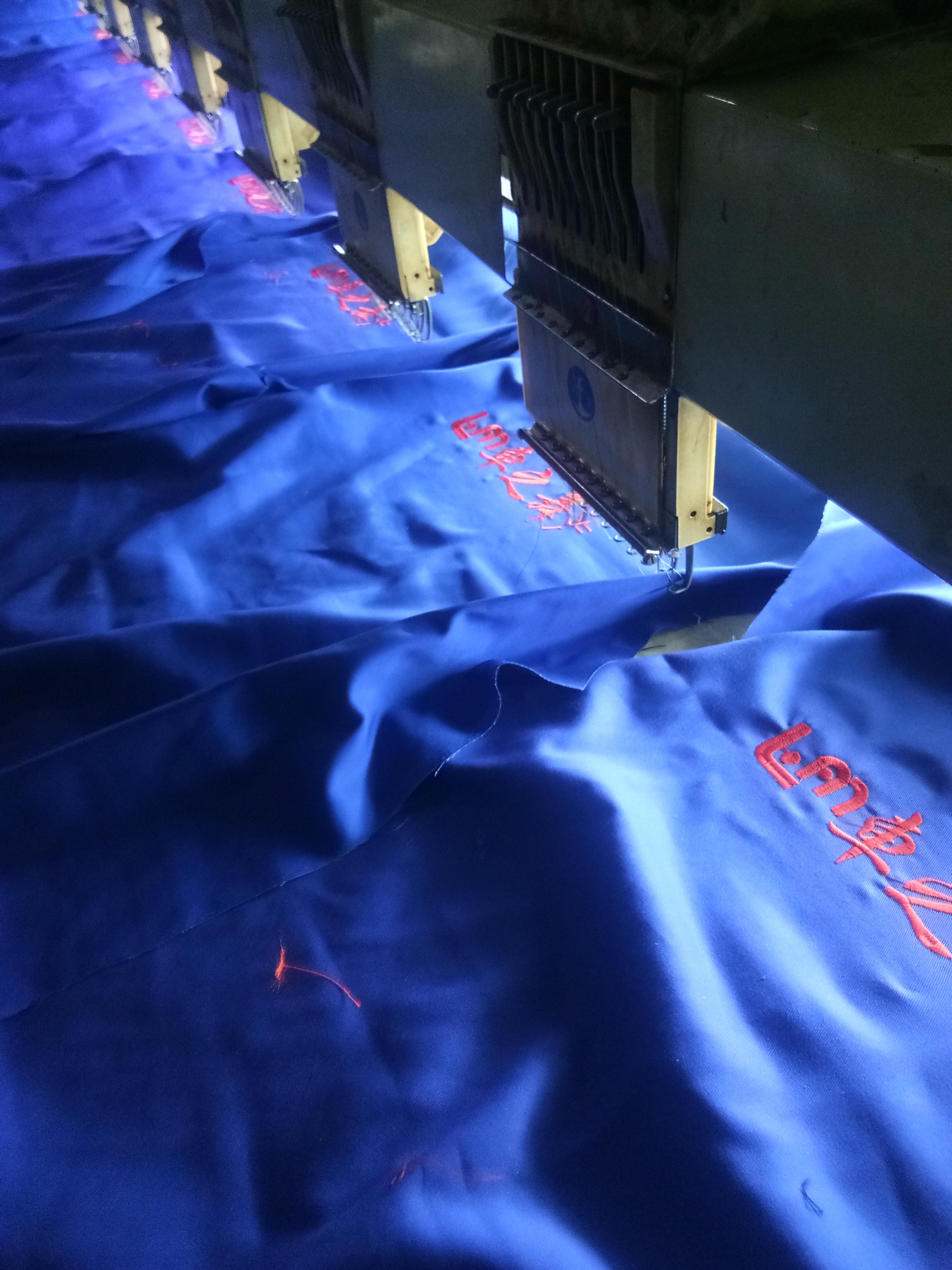工作服刺绣加工 电脑刺绣加工厂 工作服刺字 T恤衫绣LOGO