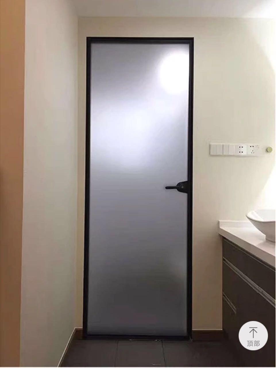 Sanude家装zui新款玻璃 细框浴室玻璃门 极简细边平开门 Sanude家装zui新款玻璃