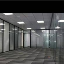 办公室玻璃隔断墙写字楼钢化玻璃高隔断 玻璃百叶隔断图片