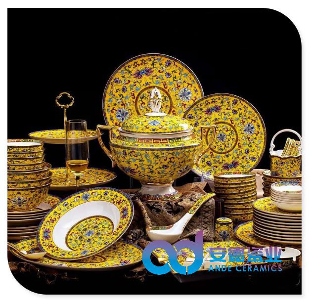 景德镇陶瓷盘碗碟勺套装餐具厂家定制批发
