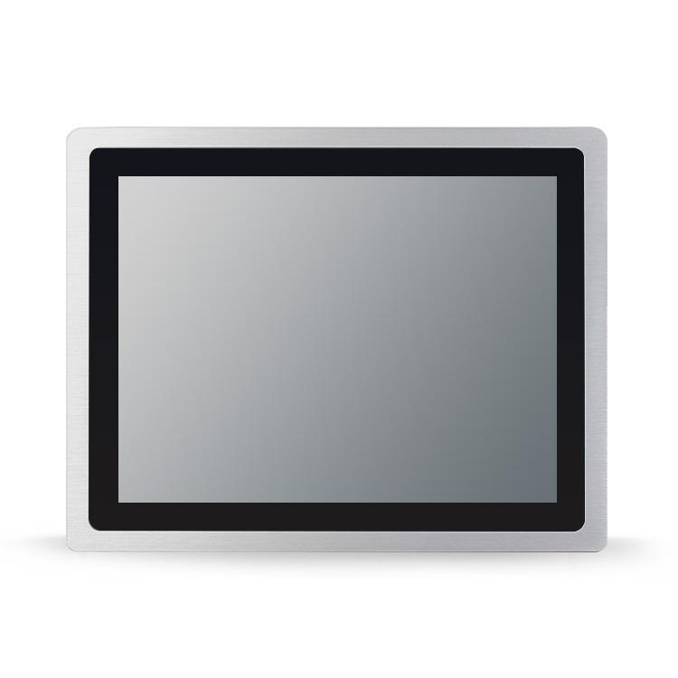 10/12/15/17/19/21.5寸超薄工业一体机嵌入式触摸防水IP65纯平面液晶平板电脑