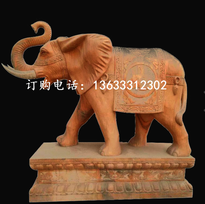 康大雕塑定制石雕大理石大象动物雕