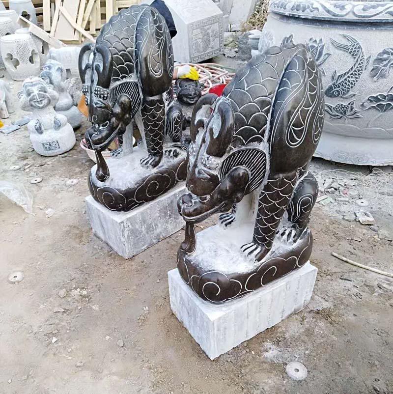 供应石雕青石吸水兽销售