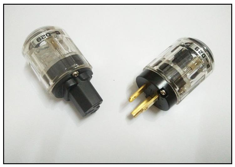 美标欧亚德透明p-029c-029 美标发烧音响电源插头
