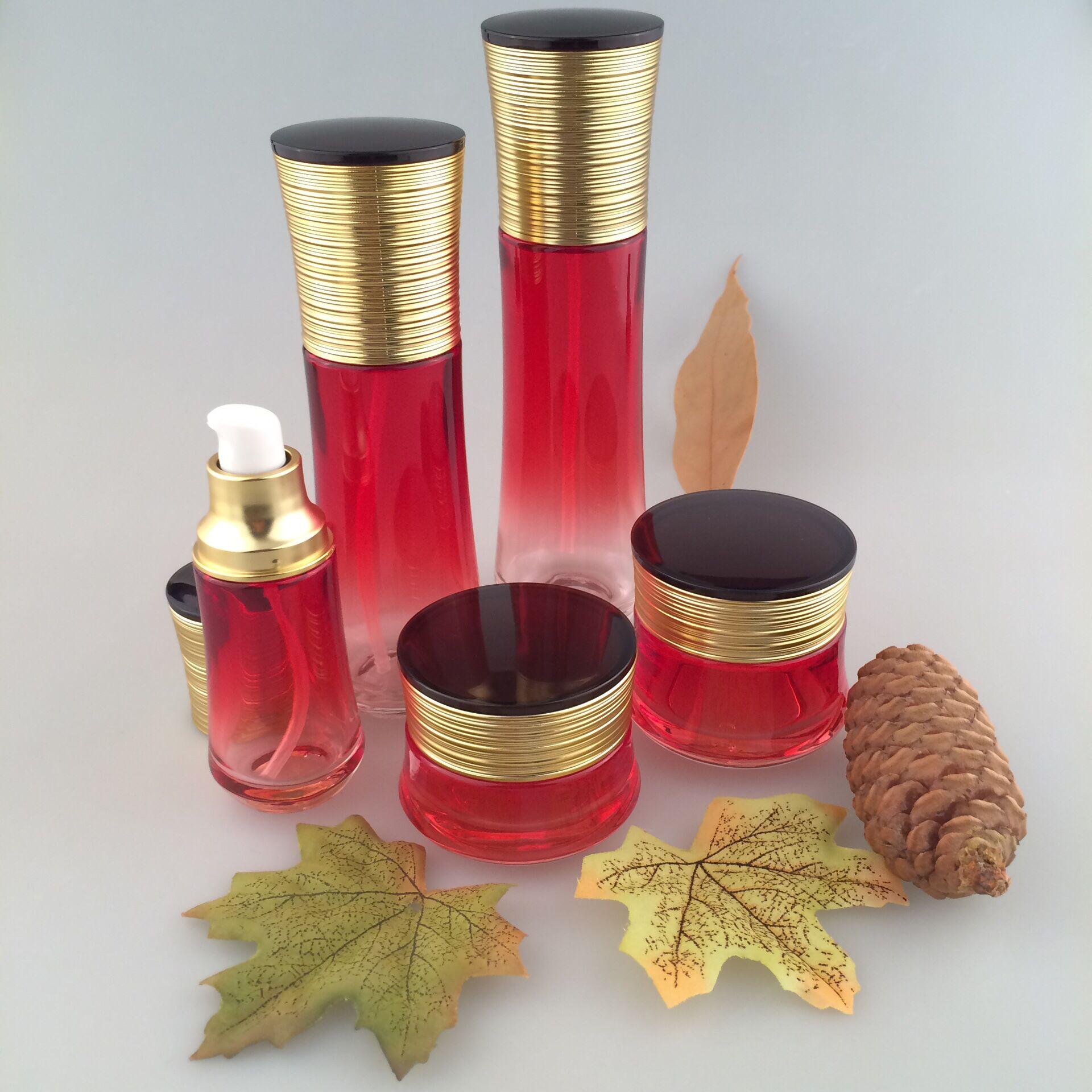 化妆品玻璃瓶定制批发销售 化妆品包装厂