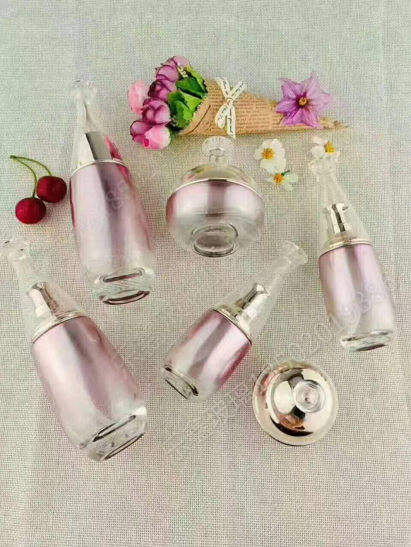 美人面透明瓶子批发定制 化妆品玻璃瓶高档膏霜瓶子 乳液瓶子