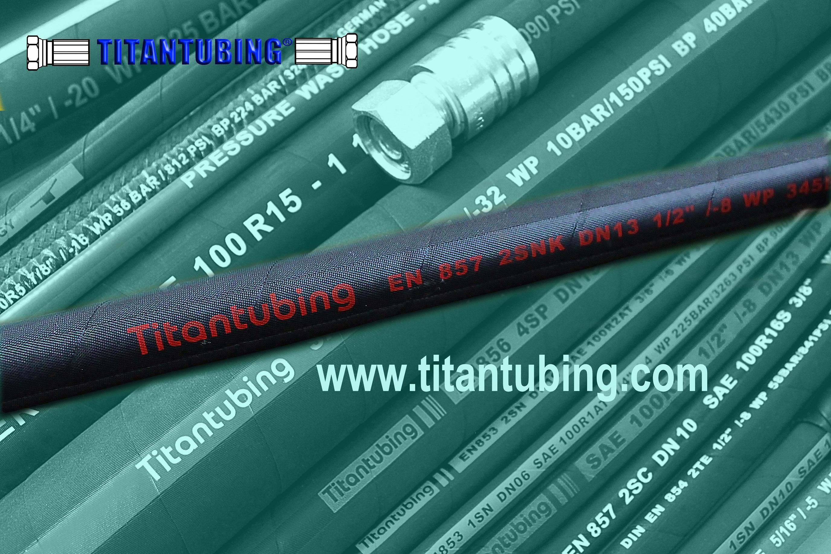EN8542TE耐油橡胶管,多用途胶管  EN854 1TE EN854  EN854  1TE 钢丝编织缠绕高压胶管