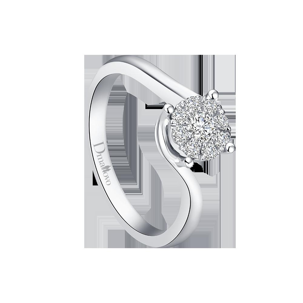 成都玛丽莱钻石Blossom系列Honey 白18K金13分H色结婚钻戒