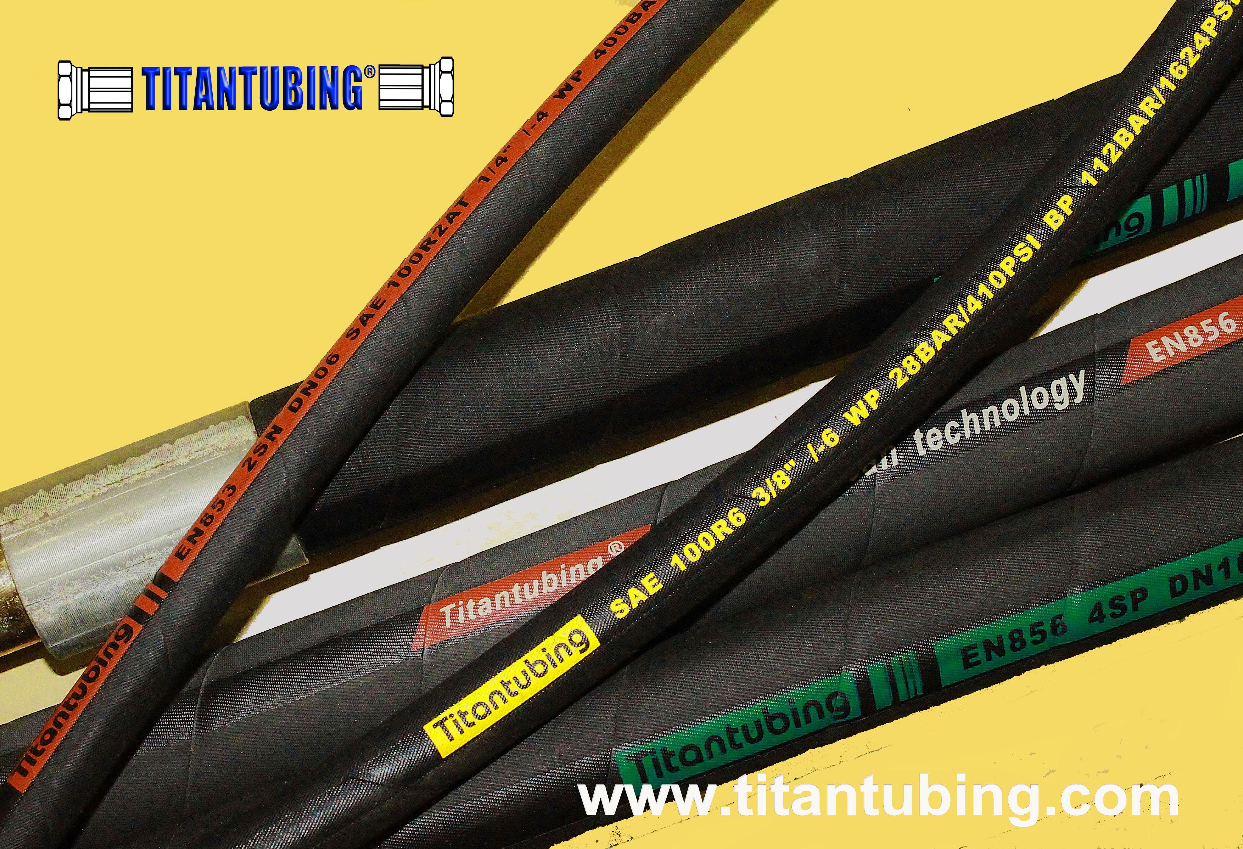 EN 854/SAE100 R6/1层棉线编织液压胶管/橡胶管/高压油管液压软管 橡胶外敷液压管