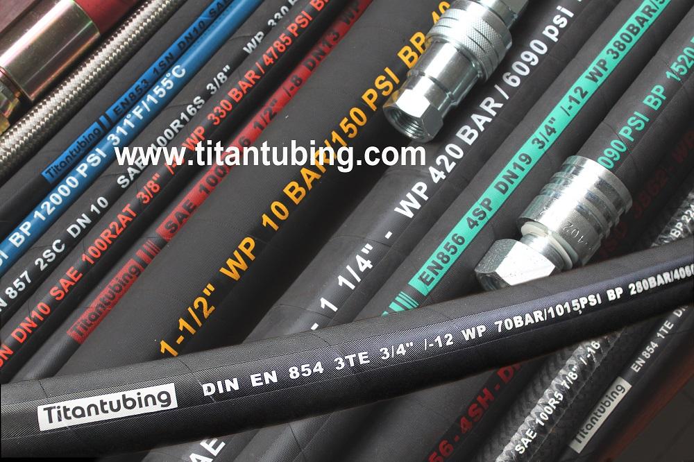 耐油胶管SAE100R6 高压橡胶管,棉线胶管,耐油胶管, 德标钢丝编织橡胶管 棉线编织液压管