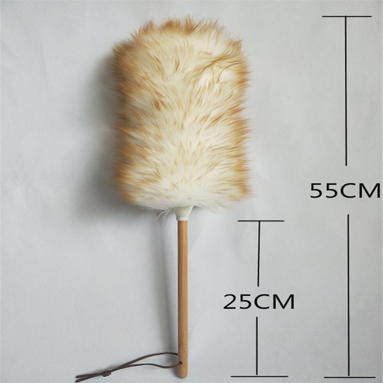 源头工厂澳洲羊皮毛清洁羊毛掸子静电除尘刷家用车用扫灰尘扫房