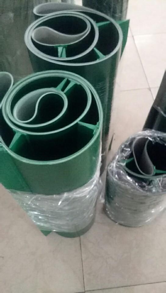 PVC绿色输送带白色硅胶食品传送
