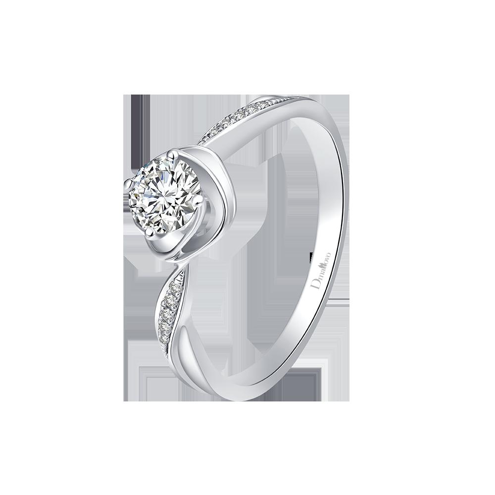 武汉Dmallovo/玛丽莱钻石Blossom系列lily白18K金20分H色求婚钻戒