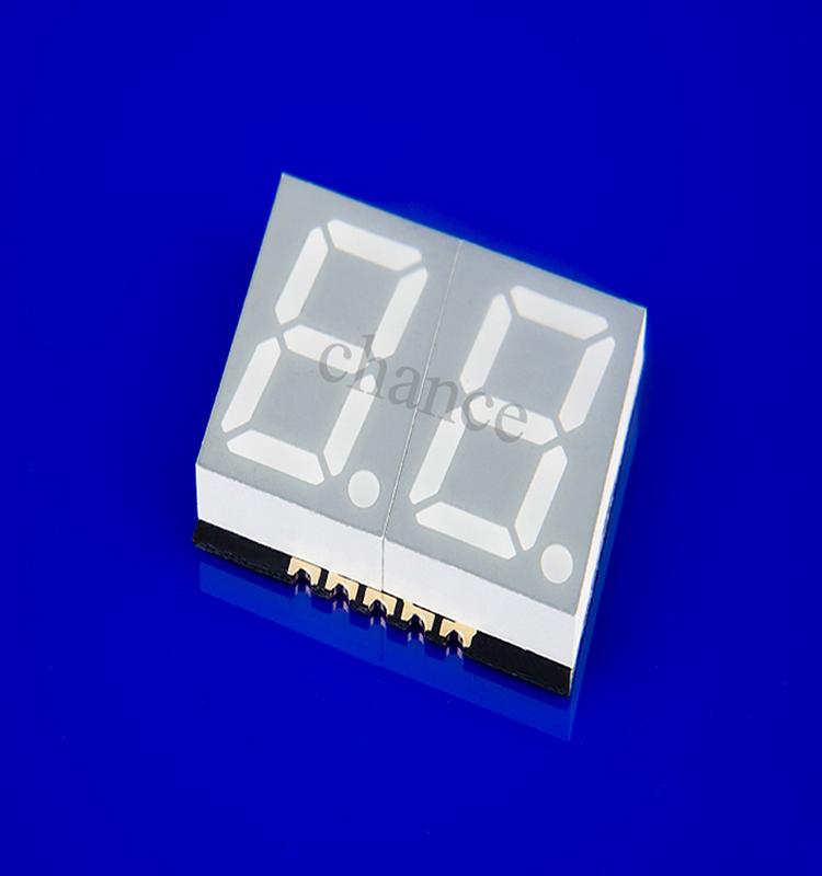 超薄贴片数码管 贴片led数码管厂家 GS4020AB-G 0.4英寸2位贴片式数码管 蓝光