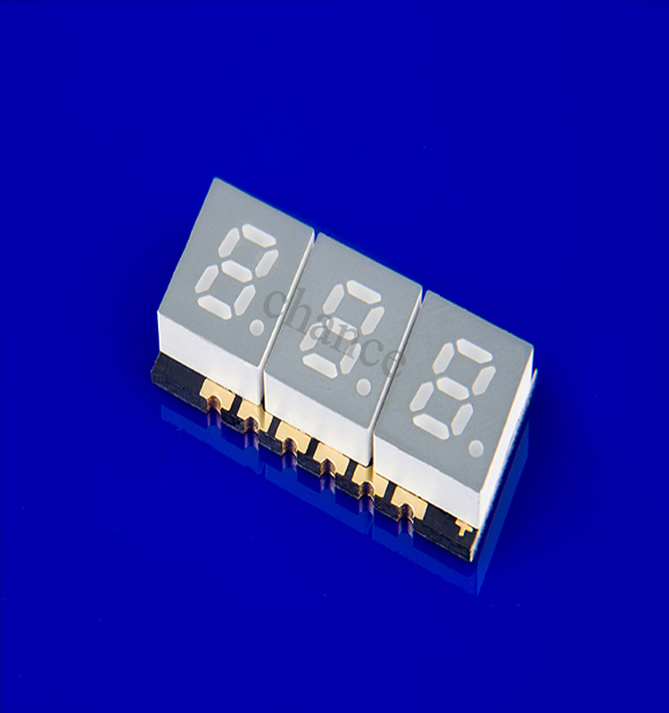 8字显示器件 贴片数码管 0.39英寸3位贴片数码管 超薄红光贴片数码管