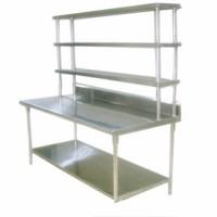 不锈钢三层货架带层板价格|批量生产 不锈钢货架直销