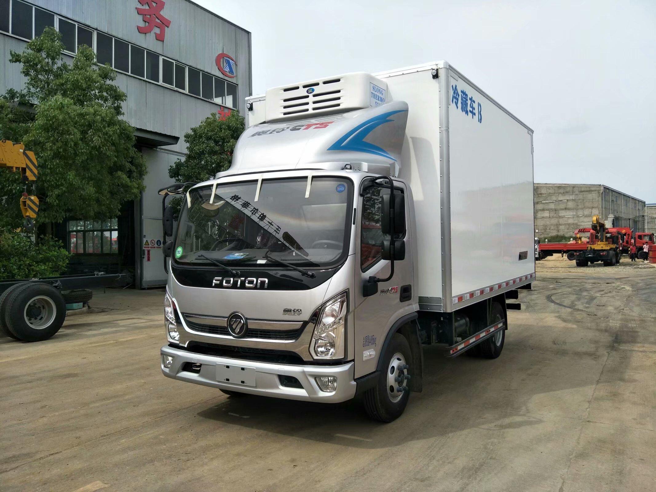 福田奥铃冷藏运输车厂家直销,奥铃4米2厢长冷藏车价格