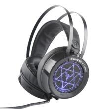 V1-7.1游戏耳机头戴式电脑pc有线耳麦USB虚拟7.1声道环绕声绝地求生听声辩位吃鸡耳机 黑色 速钛 V1-7.1批发