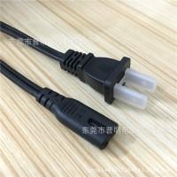 UL认 证 非极性美标两插电源线 八字尾美规插头电源线