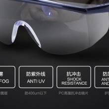 邦士度AL091防护眼镜 透明防雾防冲击眼镜 工业安全劳保眼镜